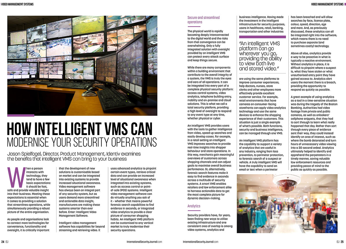 ISJ: How Intelligent VMS Can Modernise Your Security Operations