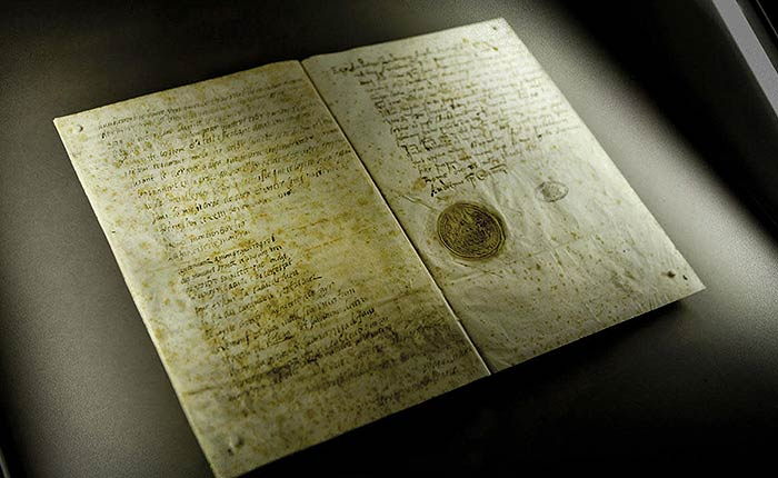 Last letter from Mary, Queen of Scots, to Pope Sixtus V